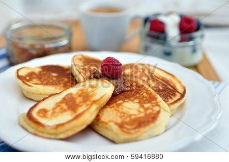 Pancakes with cinnamon butter