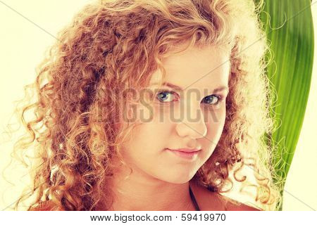 Teen girl in bikini - close up portrait