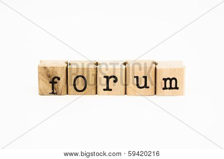 Forum Wording, Education And Business Concept