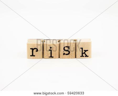 Risk Wording, Investment And Insurance Concept