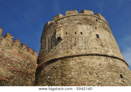 Trigoniou tower part of the fortification of Thessaloniki Greece