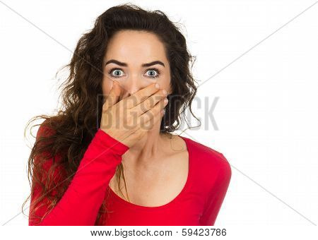 Shocked And Frightened Woman
