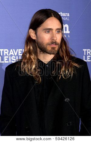 SANTA BARBARA - FEB 4:  Jared Leto at the Santa Barbara International Film Festival Virtuosos Awards at Arlington Theater on February 4, 2014 in Santa Barbara, CA