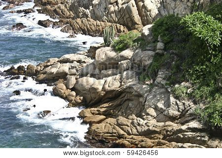 Rocks overlooking the ocean