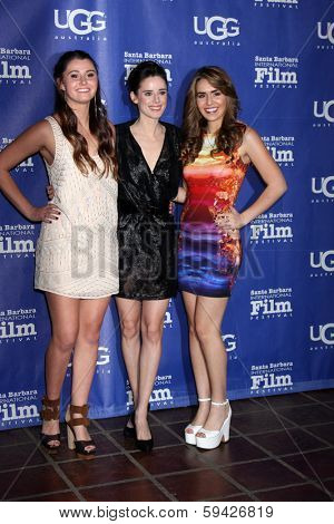 SANTA BARBARA - FEB 1: Courtney Baxter, Pilar Lopez de Ayala, Heather Braverman at the SBIFF Honors Cate Blanchett at Arlington Theater on February 1, 2014 in Santa Barbara, CA