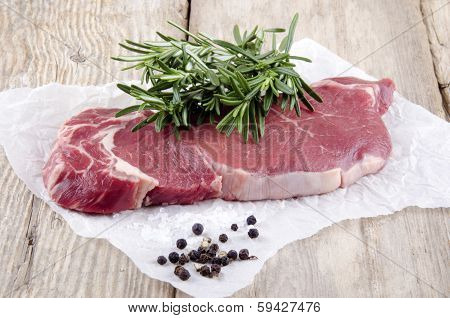 Beef Sirloin Steak With Rosemary