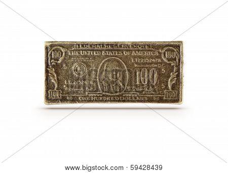 Bronze 100 Dollars Symbol