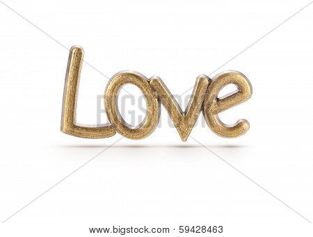 Bronze Love Word