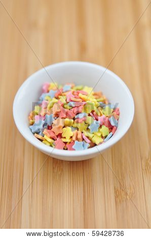 Sugar sprinkle dots, decoration for confectionery