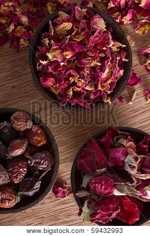 Dried Rose Hips, Buds And Petals