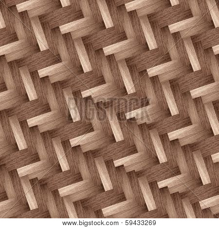 wooden herringbone design
