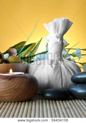 Salt And Essential Round Stones For Massages
