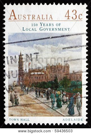 Postage Stamp Australia 1990 Town Hall, Adelaide