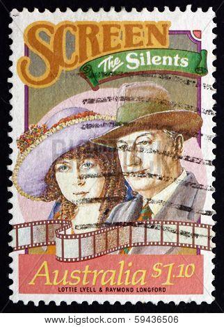 Postage Stamp Australia 1989 Lottie Lyell And Raymond Longford