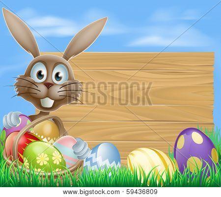 Easter Eggs Basket Rabbit