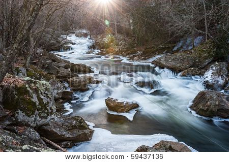 Cullasaja Gorge North Carolina Winter Scenic