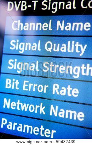 Modern TV Signal Menu
