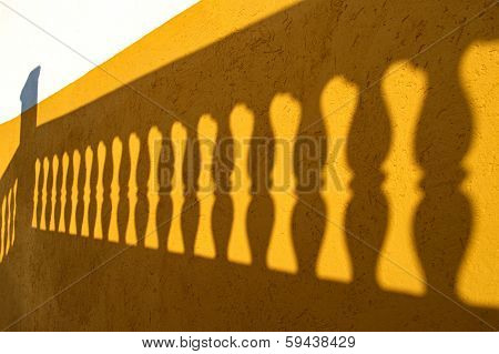 Shadow of the balusters