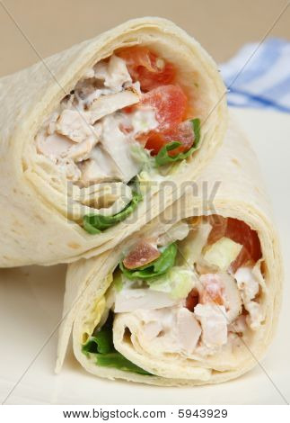 Chicken Salad Wrap Sandwich