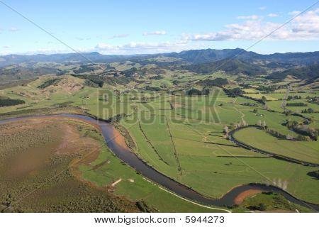 Aerial View Of The Coromandel Peninsular