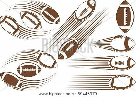 Symbolic american football ball