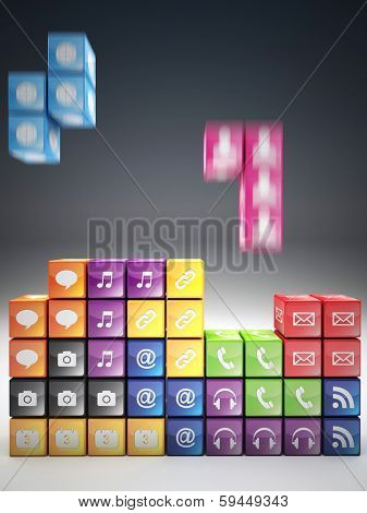 3d image of abstract icon game