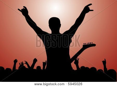 Rock Concert Silhouette