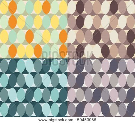 Abstract Seamless Textures Circle Element