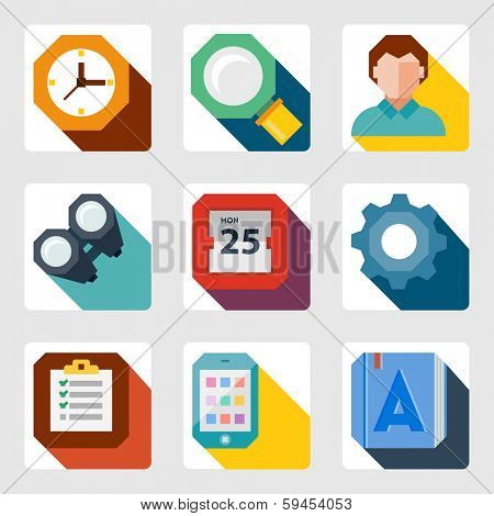 vector flat icons set 10eps