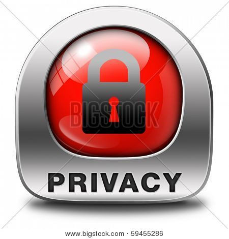 privacy  icon protection of personal online data or confidential information, password protected info