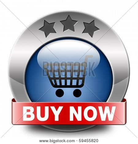 buy now and here online blue icon sales sell on internet shop online shop buy and add to cartbutton shopping webpage