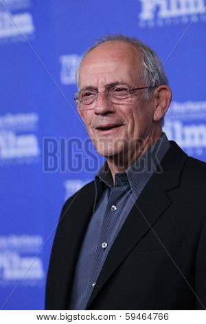 SANTA BARBARA - FEB 4: Christopher Lloyd at the 29th Santa Barbara International Film Festival - Virtuosos Award Ceremony held at Arlington Theatre on February 4, 2014 in Santa Barbara, CA