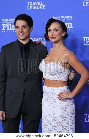 SANTA BARBARA - FEB 4: Ralph Macchio, Karina Smirnoff at the 29th Santa Barbara International Film Festival - Virtuosos Award Ceremony  at Arlington Theatre on February 4, 2014 in Santa Barbara, CA