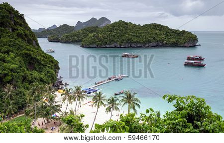 Angthong national marine park close to Koh Samui, Thailand