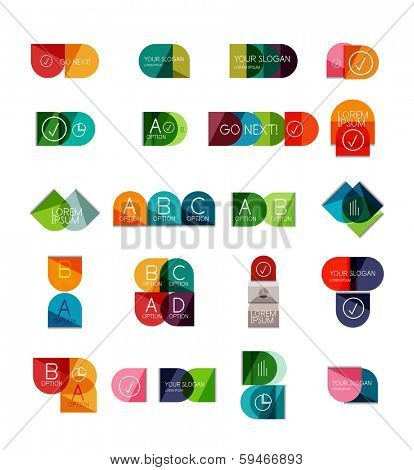 Collection of semicircle infographic templates for business background   numbered banners   business lines   graphic website