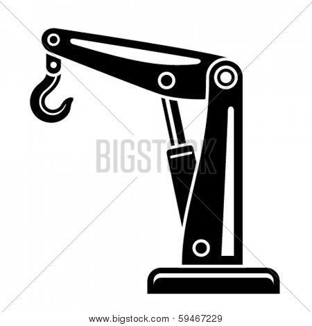 vector hydraulic hand crane symbol