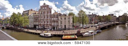 Panorama Amsterdam Inner City in the Netherlands