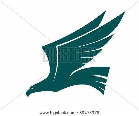 Majestic Flying Falcon Bird
