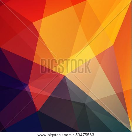 Abstract geometric triangles background  - raster version
