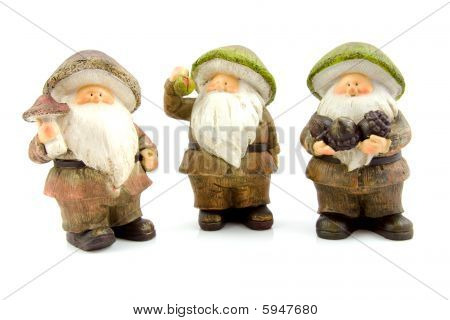 Three Stone Autumn Dolls