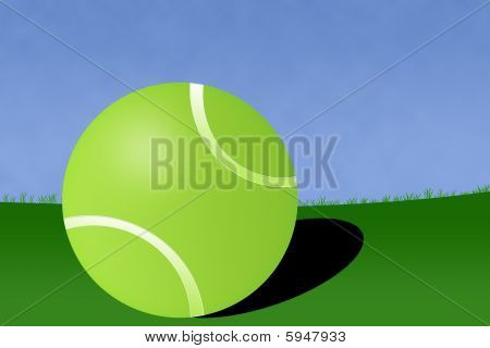 Tennis Ball Court Illustration