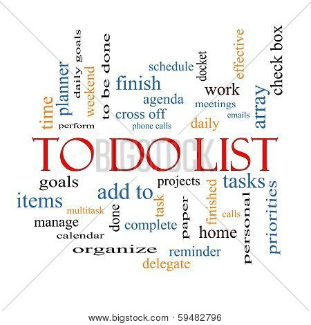 To Do List Word Cloud Concept