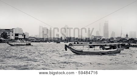 View Of The Chao Praya River In Bangkok, Thailand