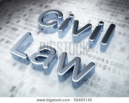 Law concept: Silver Civil Law on digital background