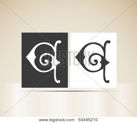 Vector letter G sign alphabet