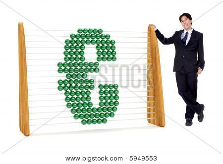 Business Man With An Euro Symbol