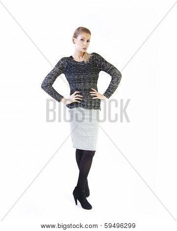 Elegant Businesswoman Posing.