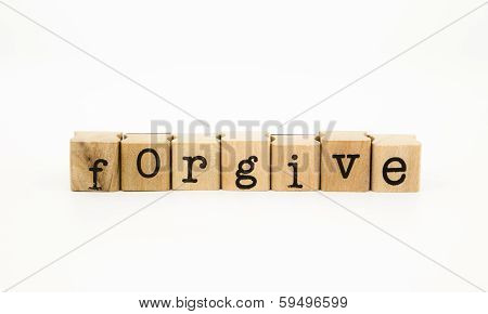 Forgive Wording, Ethic And Merit Concept