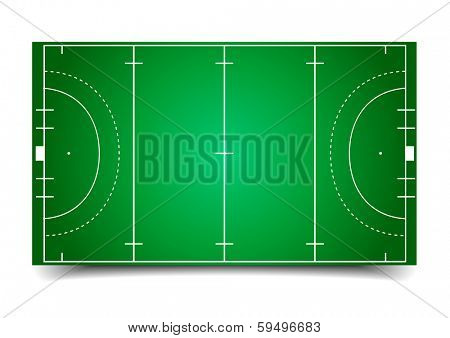 detailed illustration of a hockey field, eps10 vector