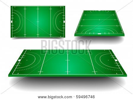 detailed illustration of Hockey fields with different perspective, eps10 vector